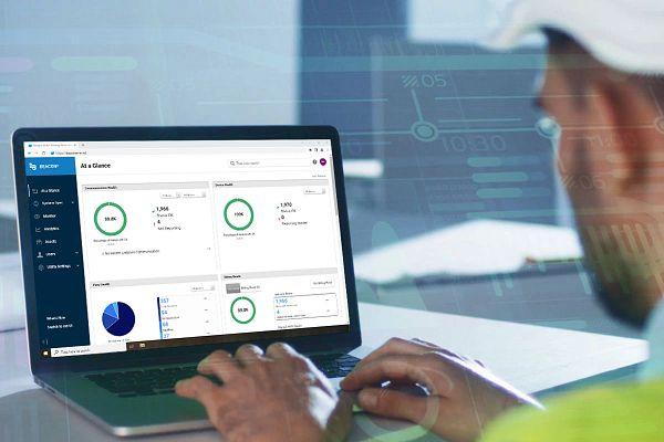 Utility Worker Analyzing Data